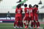 [高清组图]王珊珊破门 奥预赛中国女足击败韩国