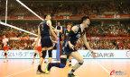 [高清组图]奥预赛-中国男排3-0日本队强势首胜