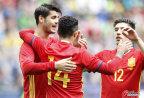 [高清组图]热身赛-莫拉塔1传2射 西班牙6-1韩国