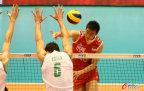 [高清组图]奥运落选赛-中国男排1-3澳大利亚