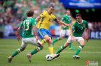 [高清组图]欧洲杯-爱尔兰1-1平瑞典 伊布造乌龙
