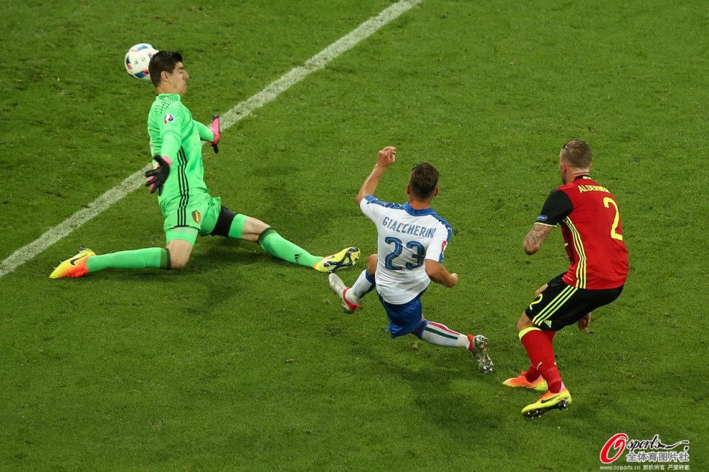 [高清组图]欧洲杯-比利时0-2意大利 佩莱建功