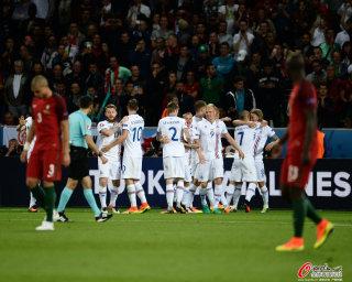 [高清组图]欧洲杯-葡萄牙1-1憾平冰岛