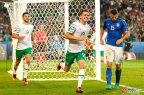 [高清组图]欧洲杯-爱尔兰1-0战胜意大利出线