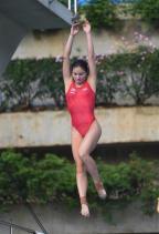 [高清组图]国家跳水队在广州举行公开训练课