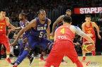 [高清组图]奥运热身-中国男篮49分负美国男篮