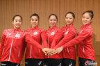 [高清组图]日本艺术体操队参加出征仪式