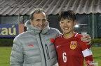 [高清组图]奥运热身赛中国女足3-0胜津巴布韦