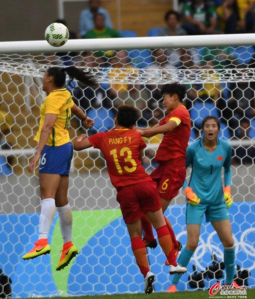 [高清优游品牌国际图]奥运女足-优游品牌国际国女足首战0-3巴西