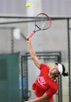 [高清组图]中国女子网球队展开赛前训练