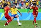[高清组图]奥运女足-中国女足首战0-3巴西