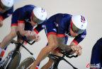 [高清组图]英国场地自行车进行赛前训练