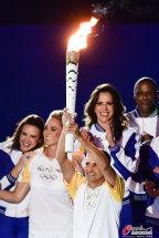 [高清组图]奥运会开幕式:奥运圣火点燃仪式