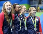 [高清组图]女子4x100自由泳接力 澳大利亚夺冠