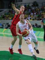 [高清组图]女篮小组赛:中国队不敌加拿大队