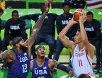 [高清组图]奥运男篮 中国62-119不敌美国