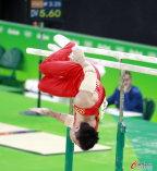 [高清组图]中国队出战奥运会体操男子团体资格赛