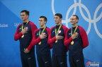 [高清组图]男子4x100自由泳接力决赛 美国夺冠