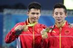[高清组图]男子双人十米台林跃/陈艾森夺得冠军