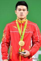 [高清组图]奥运会男子举重69公斤级 颁奖仪式