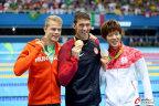 [高清组图]里约奥运男子200米蝶泳颁奖仪式