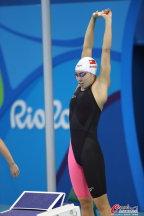 [高清组图]女子200米自由泳决赛 沈铎并列第五