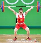 [高清组图]女举63公斤邓薇破世界纪录夺金