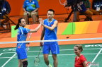 [高清组图]羽毛球混双预赛中国组合2:0轻取对手