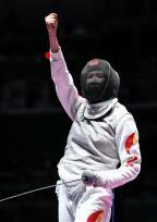 [高清组图]女子花剑个人赛:中国刘咏诗晋级16强