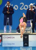 [高清组图]女子4x200米自由泳接力 中国第四