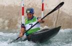 [高清组图]皮划艇激流回旋-英国选手克拉克夺冠