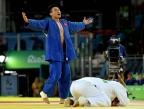 [高清组图]男柔道90公斤级:日本夺金程训钊摘铜