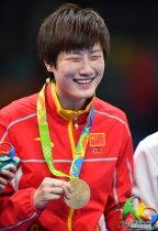[高清组图]丁宁成就大满贯 中国女乒单打夺冠