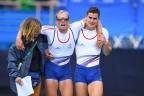 [高清组图]男子轻量级双人双桨决赛 法国夺金