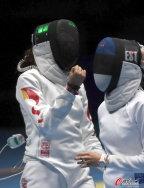 [高清组图]女子重剑团体中国胜爱沙尼亚进决赛
