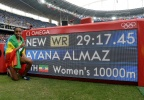 [高清组图]女子万米:埃塞俄比亚名将破纪录夺金