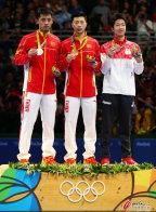 [高清组图]里约奥运会乒乓球男子单打颁奖仪式