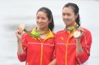 [高清组图]女轻量级双人双桨 中国铜牌荷兰夺冠
