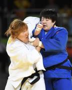 [高清组图]于颂获得女子柔道78公斤以上级铜牌