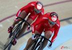 [高清组图]中国夺场地自行车女子团体竞速赛金牌