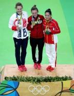 [高清组图]女子蹦床李丹摘铜 加拿大名将卫冕