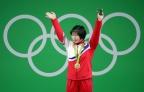 [高清组图]朝鲜选手夺得举重女子75公斤级金牌