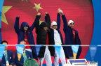 [高清组图]女子4x100米混合泳接力决赛 中国第四