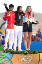 [高清组图]帆船女子RS:X级陈佩娜摘银 法国冠军