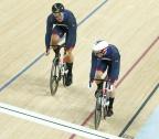 [高清组图]自行车男子竞速赛 英国包揽金银牌