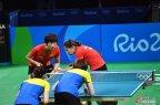 [高清组图]乒乓球女团半决赛中国3-0轻取新加坡