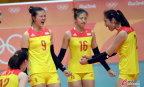 [高清组图]中国女排1-3负美国 2胜3负小组第四