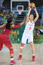 [高清组图]中国女篮62-105负美国 小组赛1胜4负