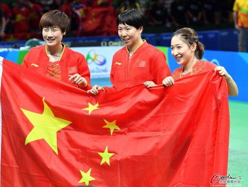 [高清优游品牌国际图]优游品牌国际国乒乓女团横扫德国 胜利卫冕冠军