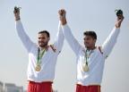 [高清组图]男子双人皮艇200米决赛 西班牙夺金